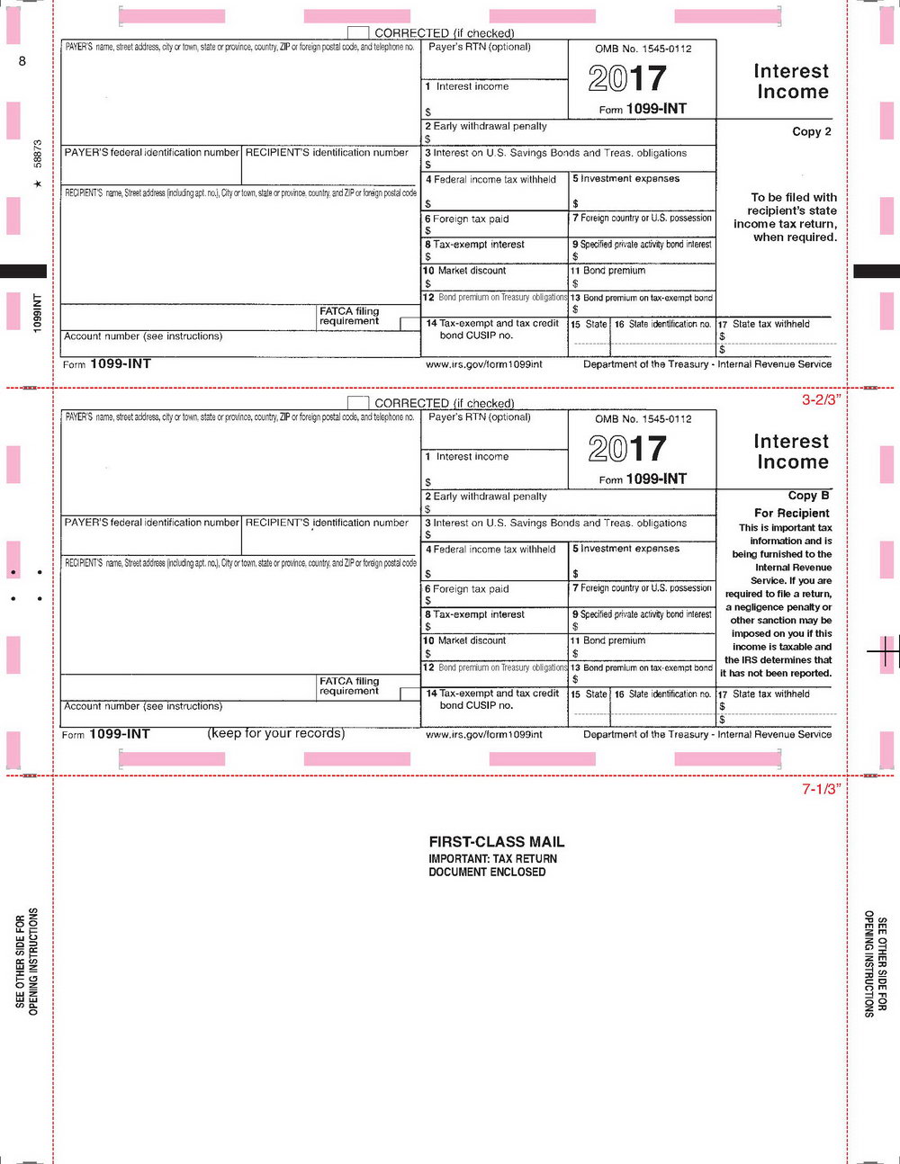 1099 instructions 2017 where to file