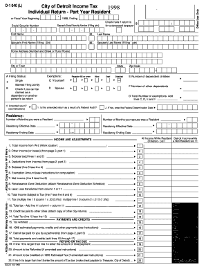 city of detroit income tax forms and instructions