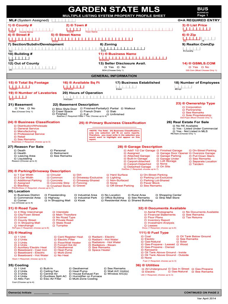 mls listing form instructions