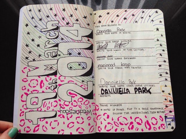 instructions page wreck this journal