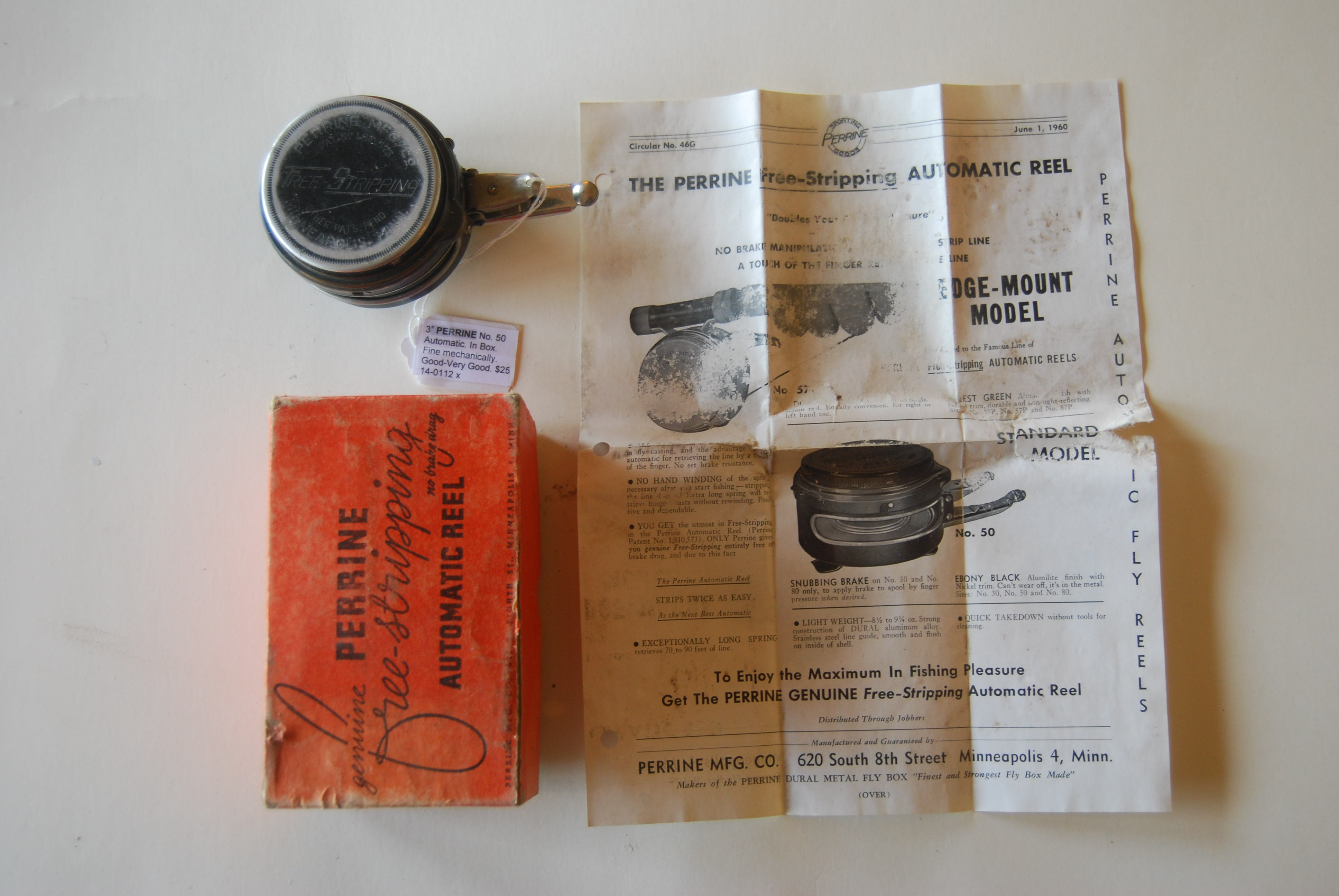 instructions for perrine automatic reel no 80