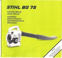 stihl bg 55 instruction manual