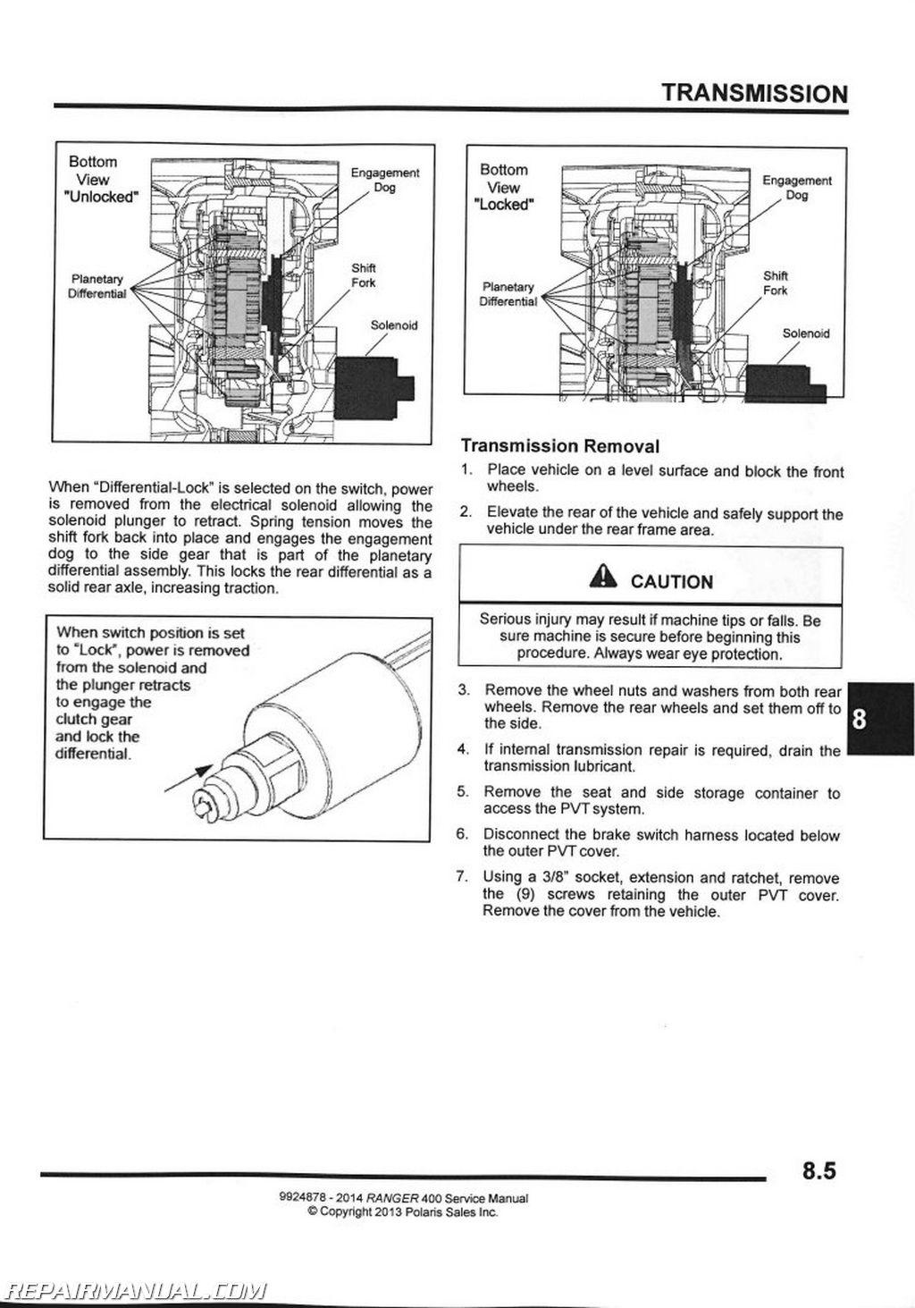 polaris 400 2 temps guide instruction