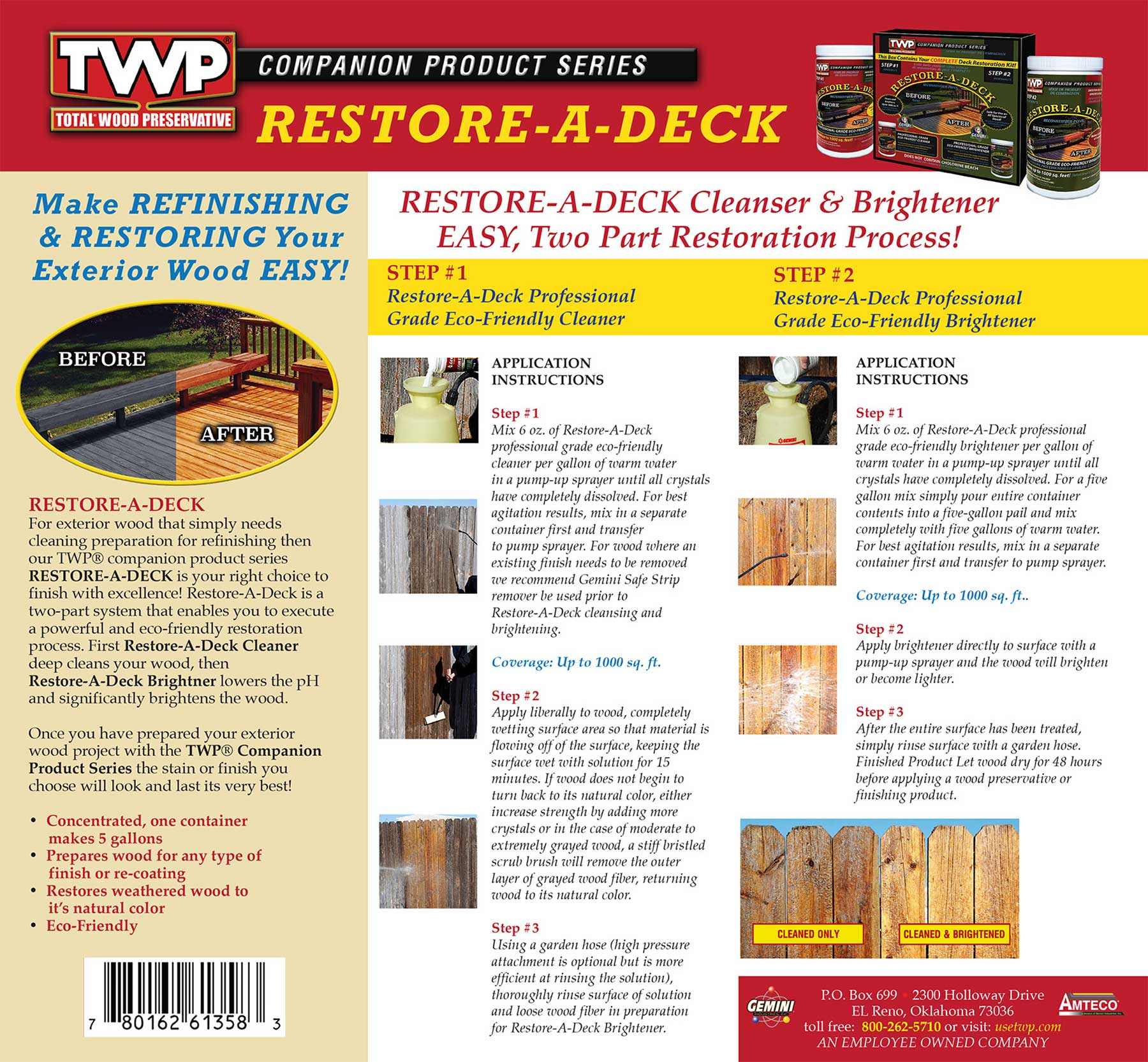 cil deck cleaner instructions