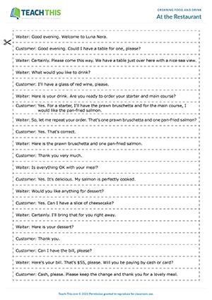 esl writing instructions activities