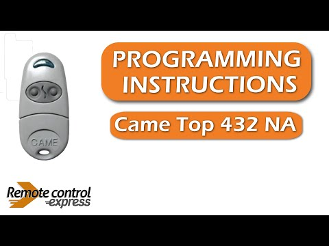 instruction to program remote controls