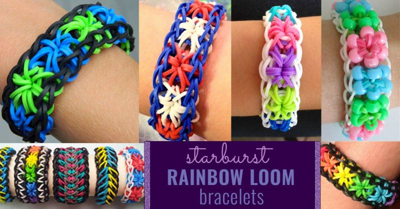 how to make loom bands starburst step by step instructions