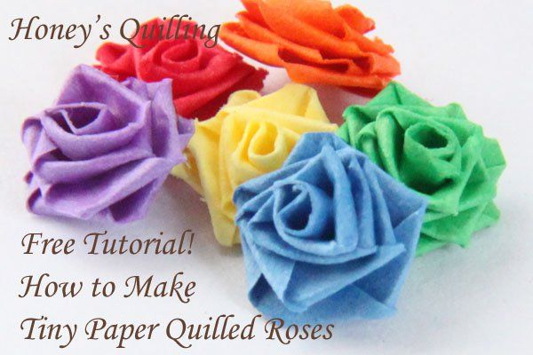 paper quilling rose instructions
