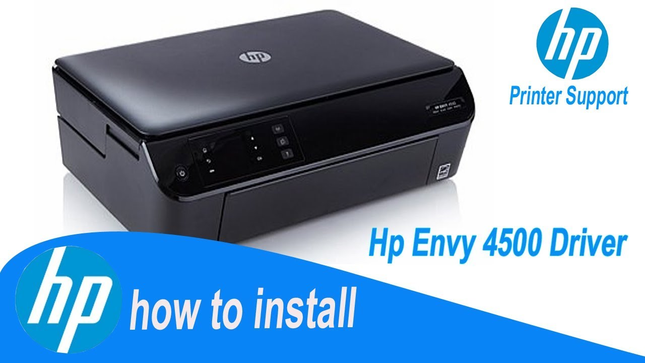hp instruction for hp envy 4500