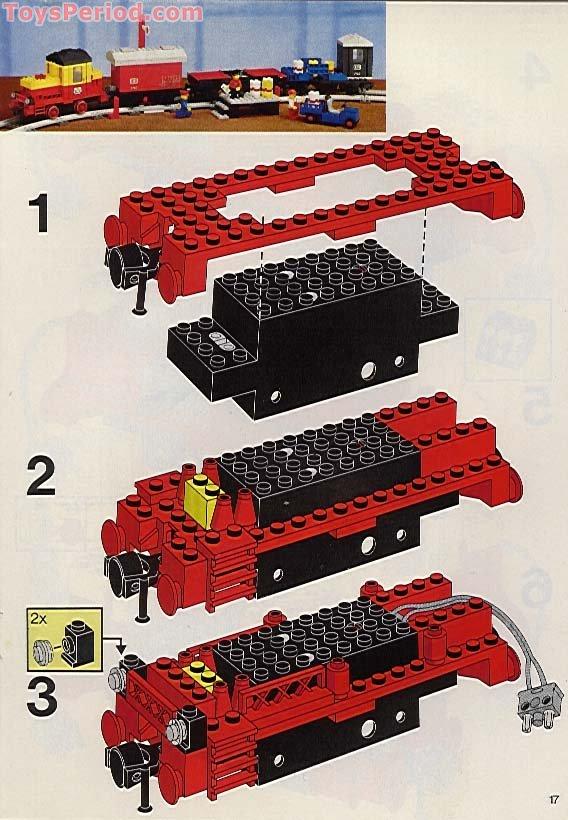yellow cargo train instructions