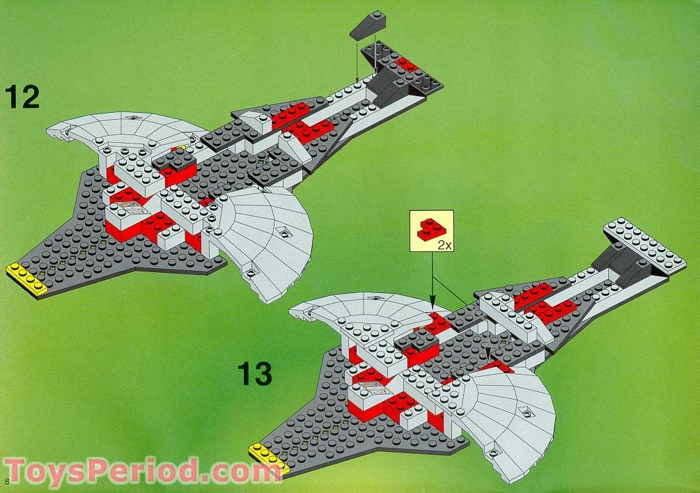 lego 6979 interstellar starfighter instructions