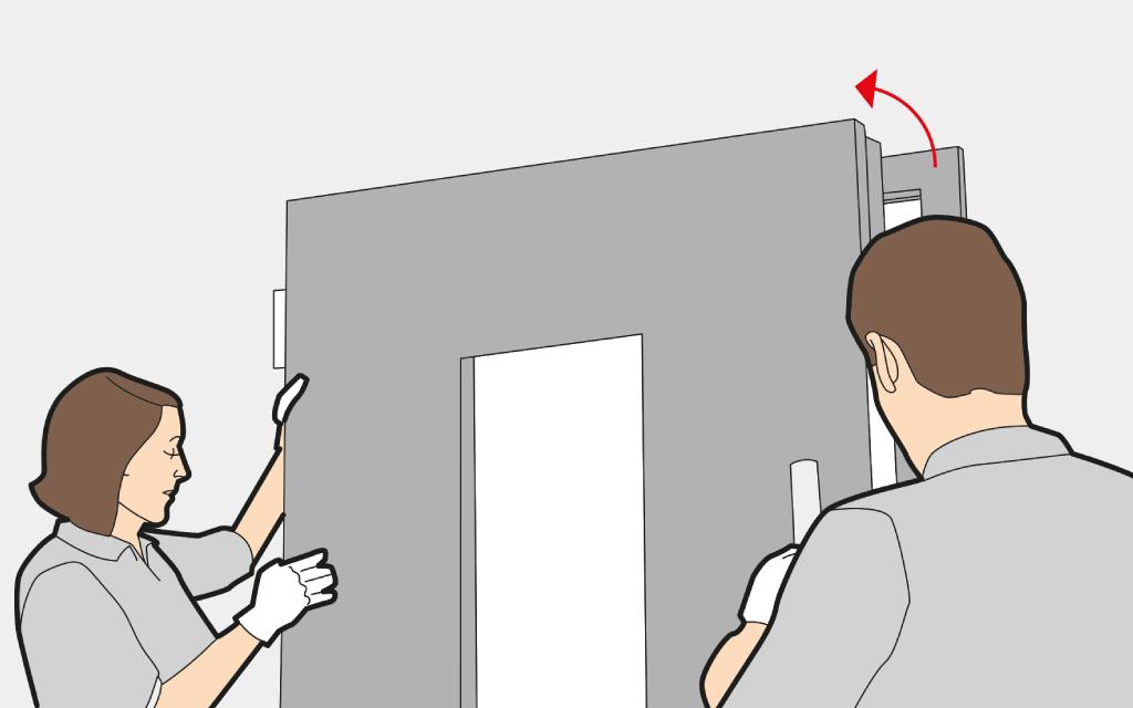 instruction pour poser une porte