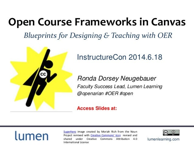 instructional design with oer