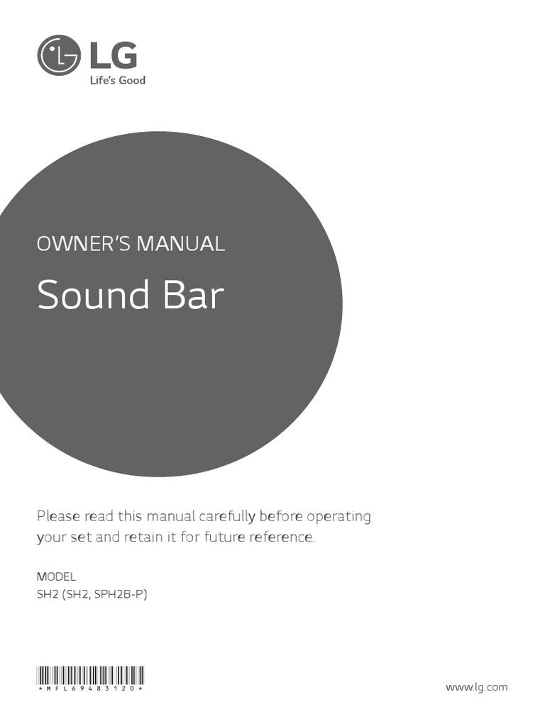 lg sh3b soundbar instructions