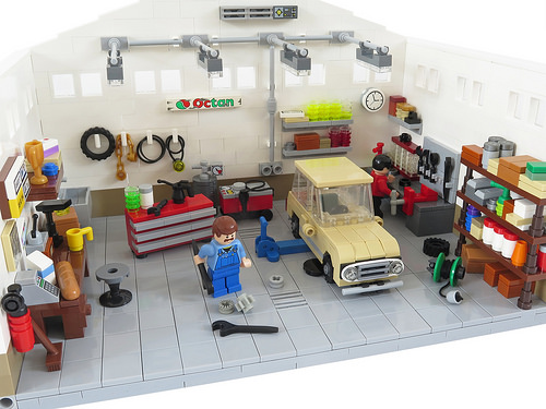 lego city garage 7642 building instructions
