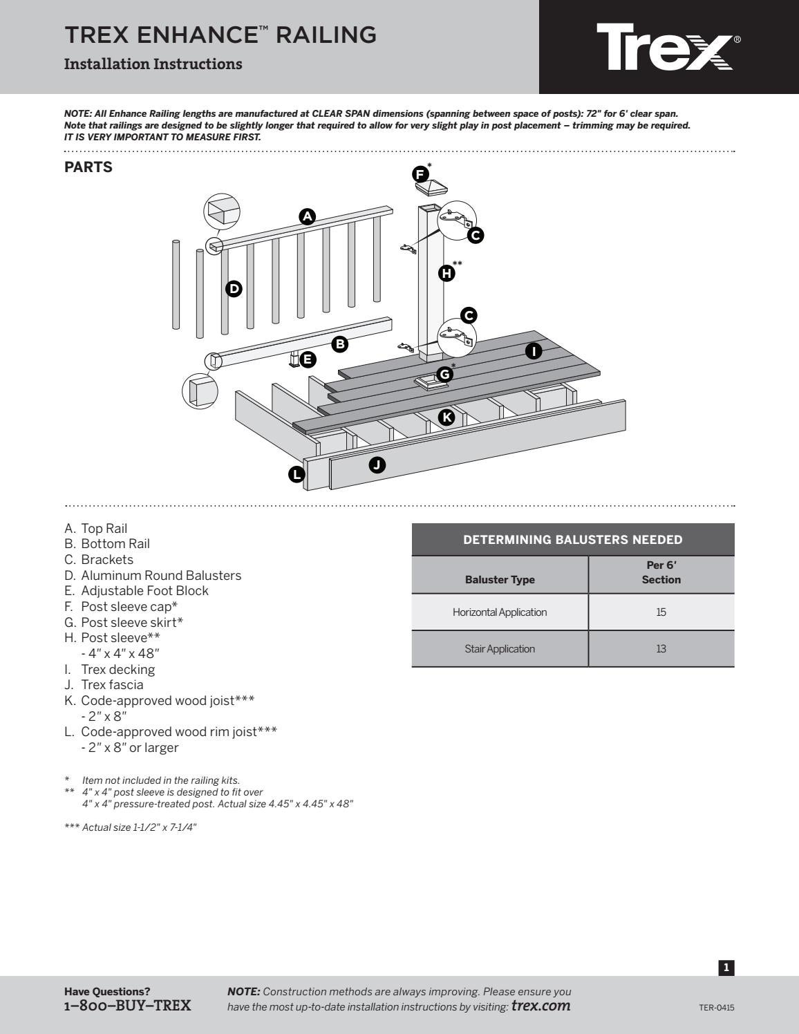 classic railing installation instructions