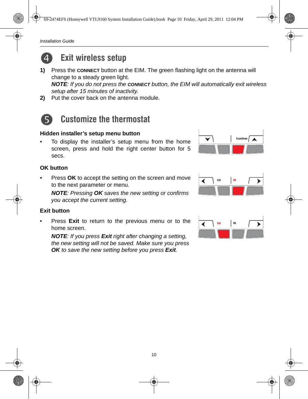 honeywell thermostat instructions francais
