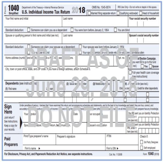 draft 2017 form 1040 instructions
