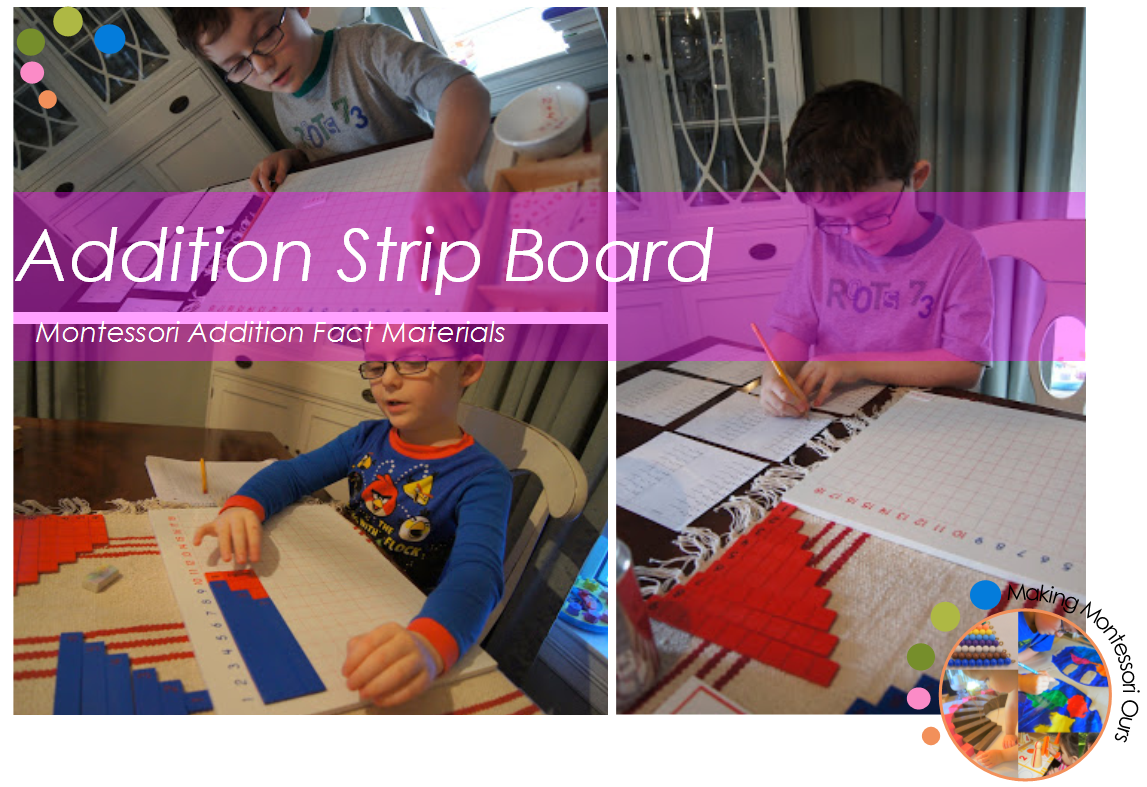 addition strip board instructions