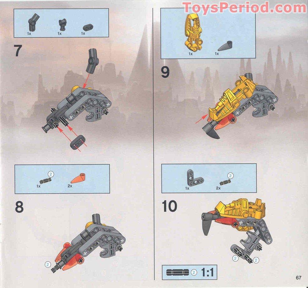 lego bionicle instructions 2004