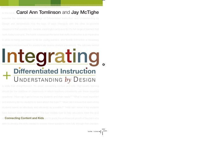 carol ann tomlinson differentiation differentiated instruction pdf