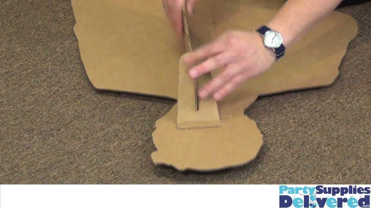 giant cardboard lego man instructions