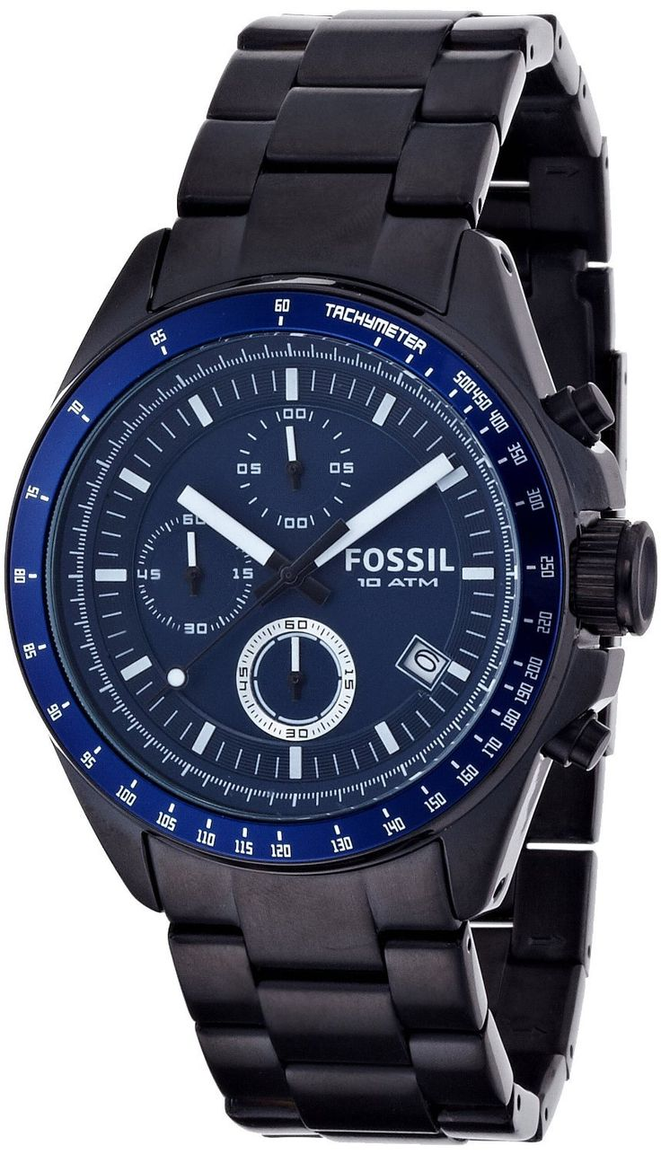 fossil decker chronograph instructions