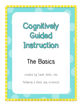 when to use cognitively guided instruction