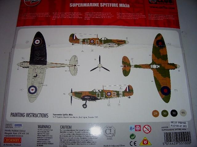 supermarine spitfire mk1a airfix instructions