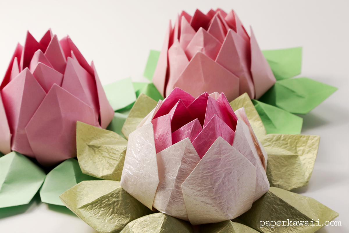 black lotus origami instructions