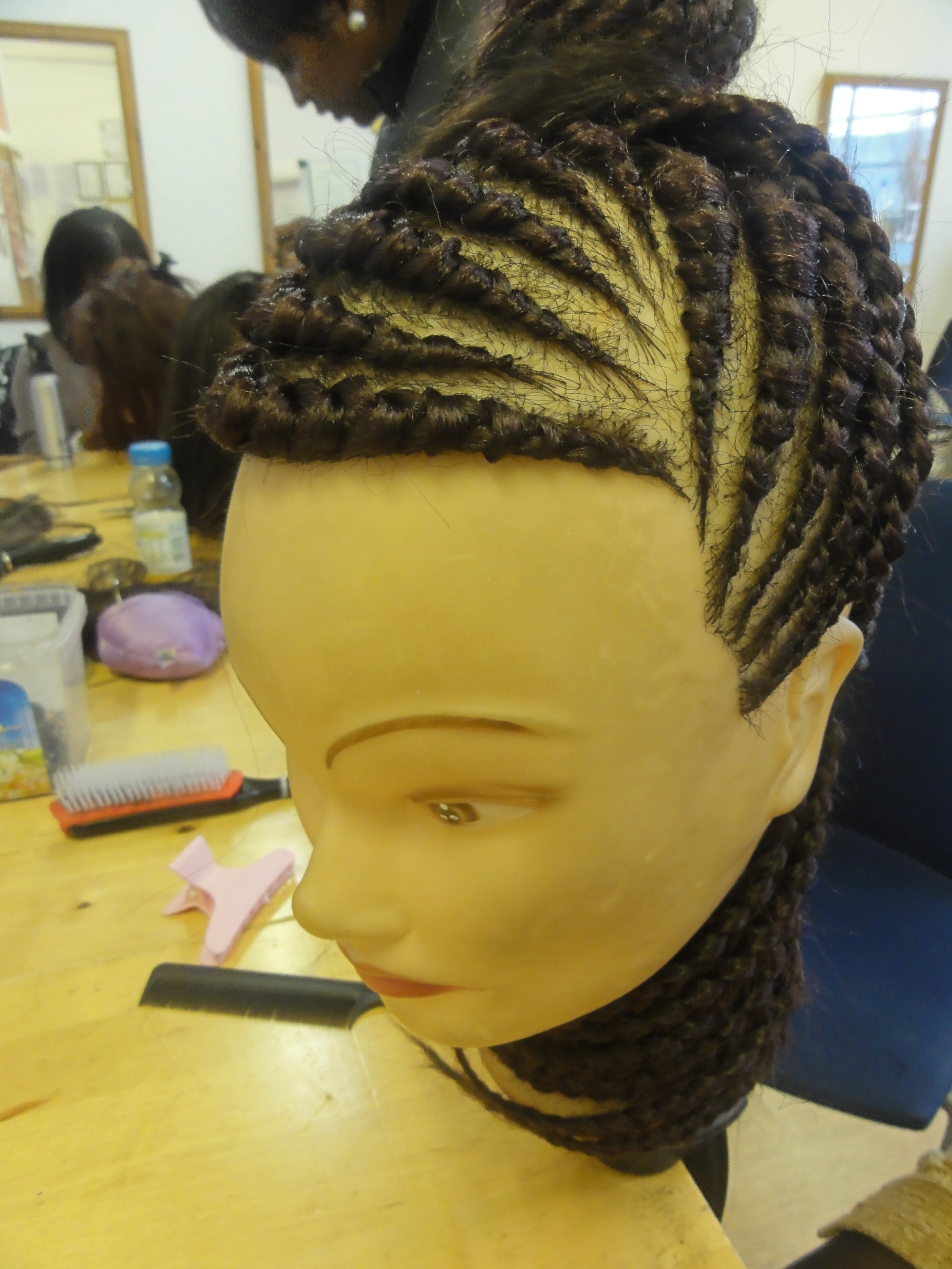 braiding in hair extensions instructions