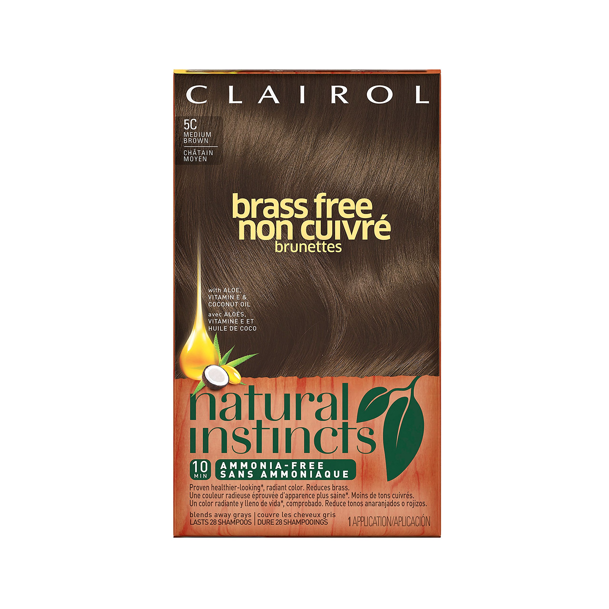 clairol natural instincts medium brown instructions