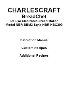 charlescraft bread maker ts238h instruction manual and recipes
