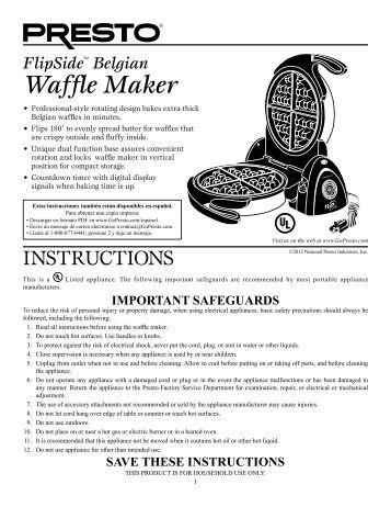 cuisinart waffle maker instructions waf-r
