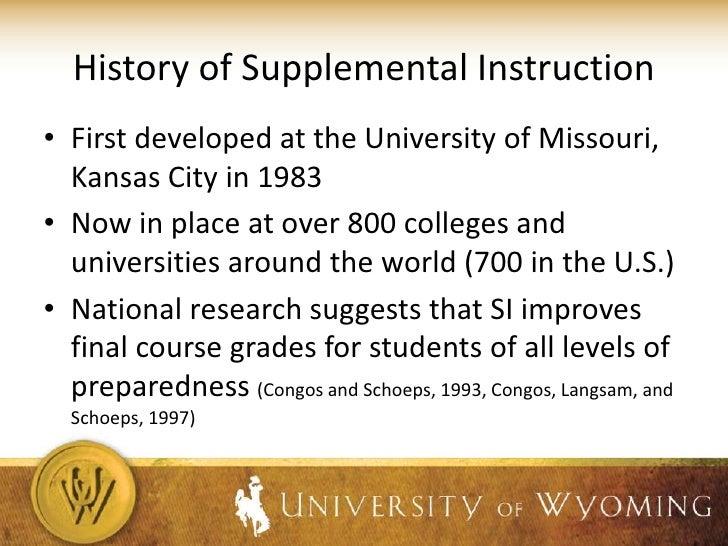 supplemental instruction university of missouri kansas city