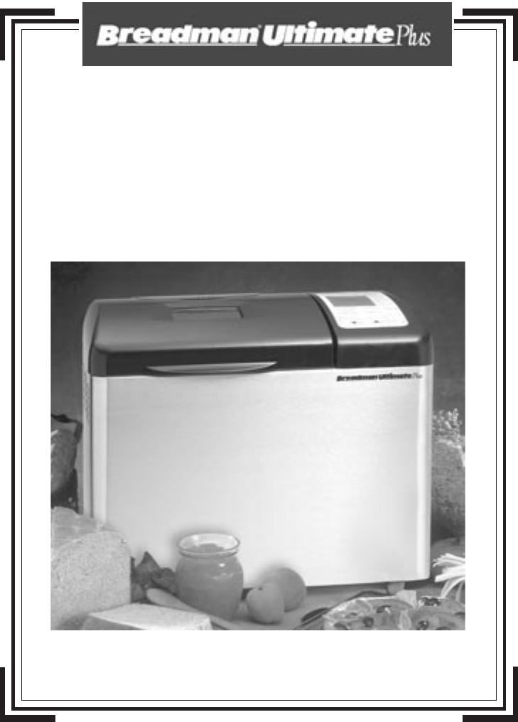 breadman bread machine instructions tr520