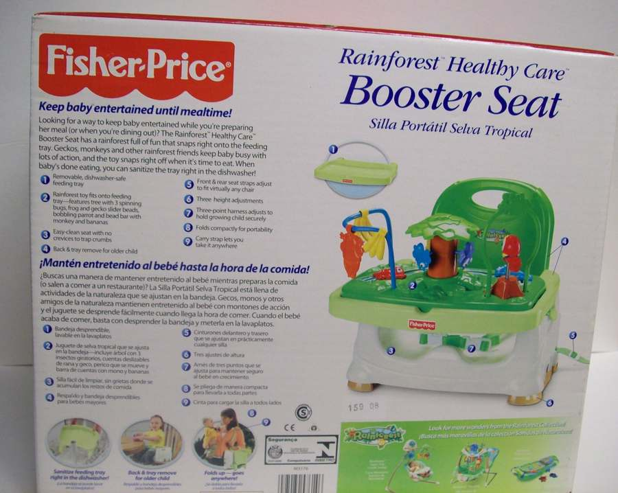 fisher price rainforest booster seat instructions