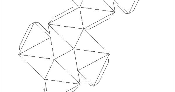 great stellated dodecahedron net instructions