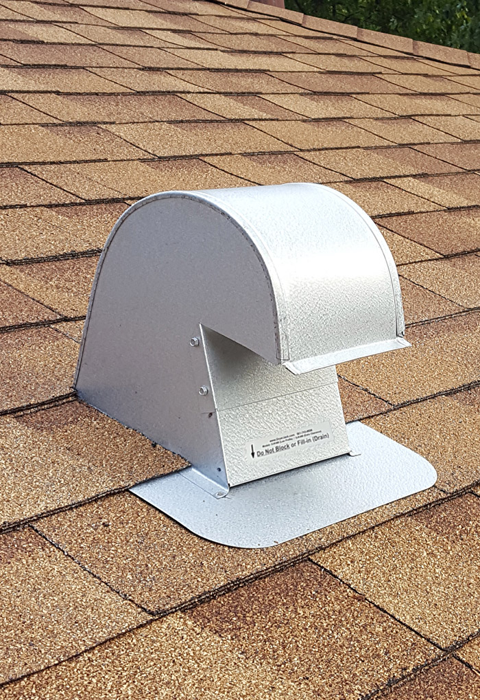 instalation instructions for maximum sloped roof vents