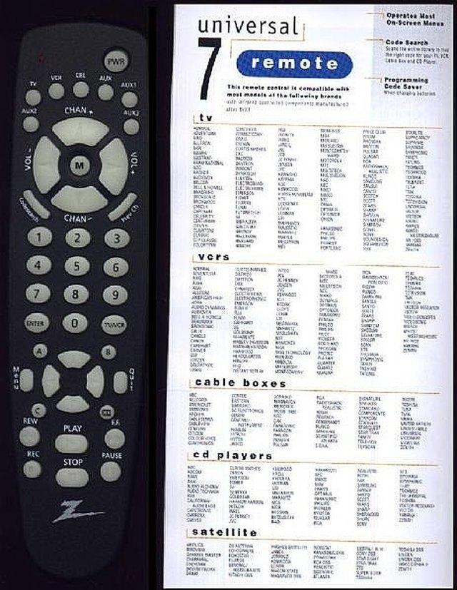 instruction to program remote controls
