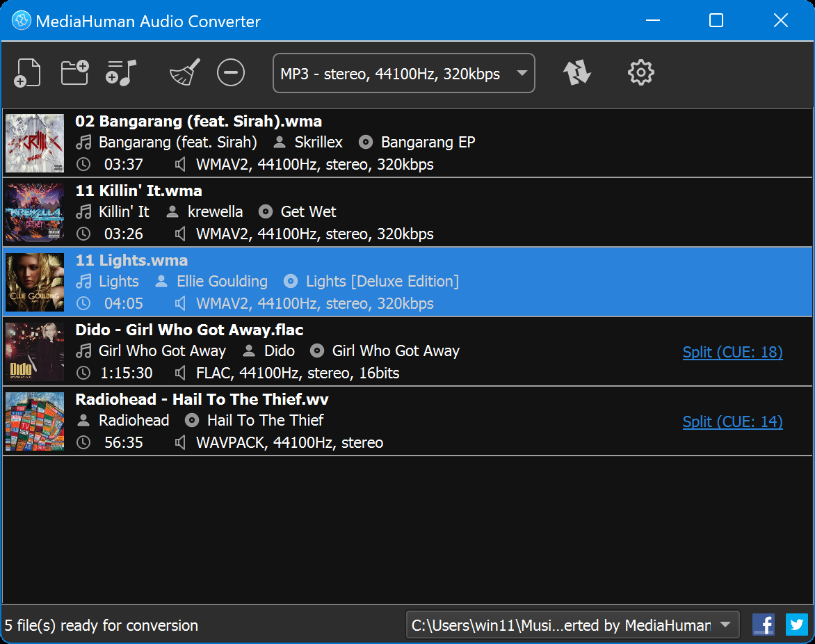 instructions magic flac to mp3 converter