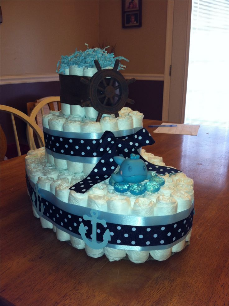 instructions on how to make a sailboat diaper cake