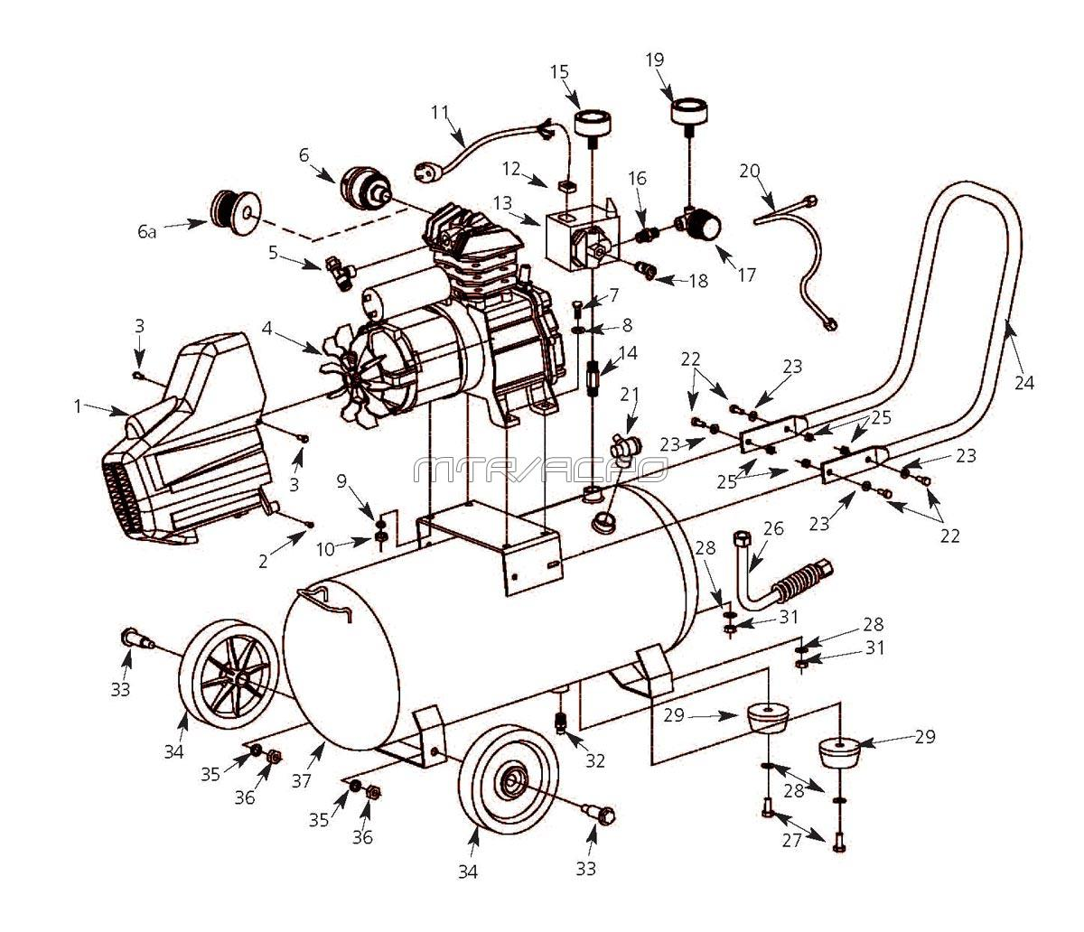 king 5hp air compressor instructions