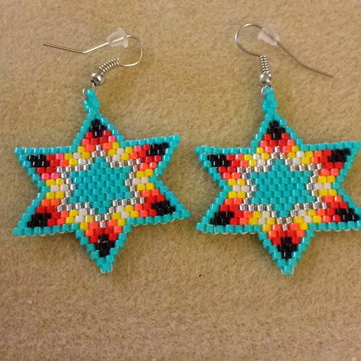 lacey stitch earrings instructions