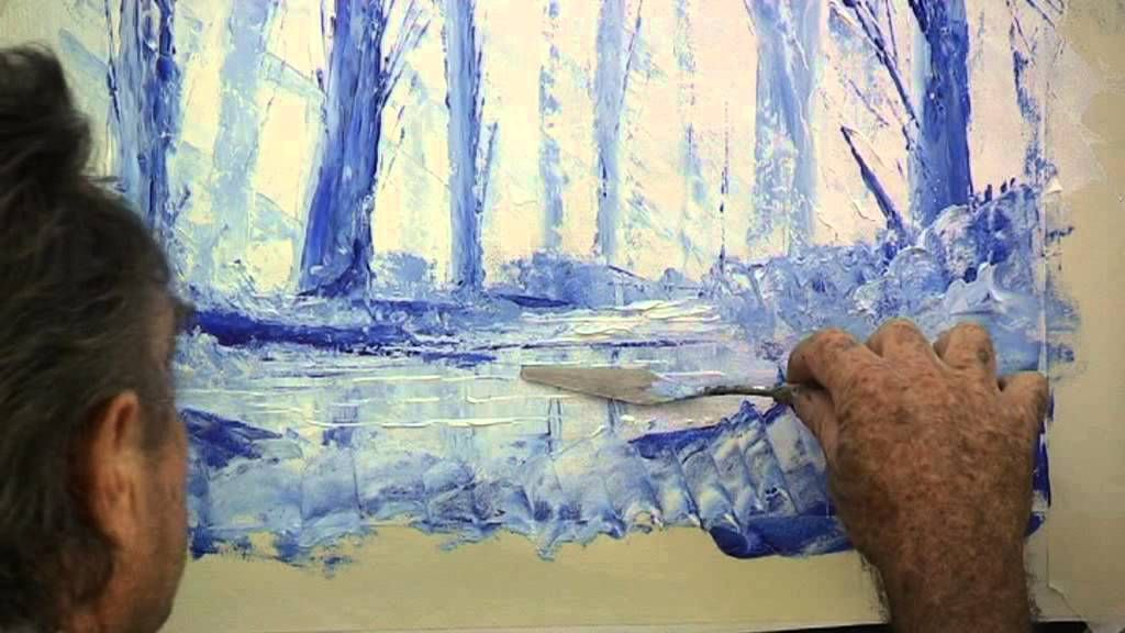 palette knife acrylic art instruction