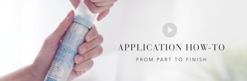 rogaine foam application instructions