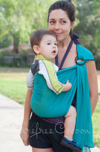 sleeping baby productions ring sling instructions