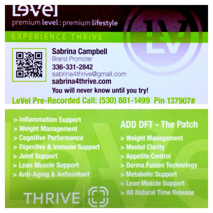 three day sample thrive instructions