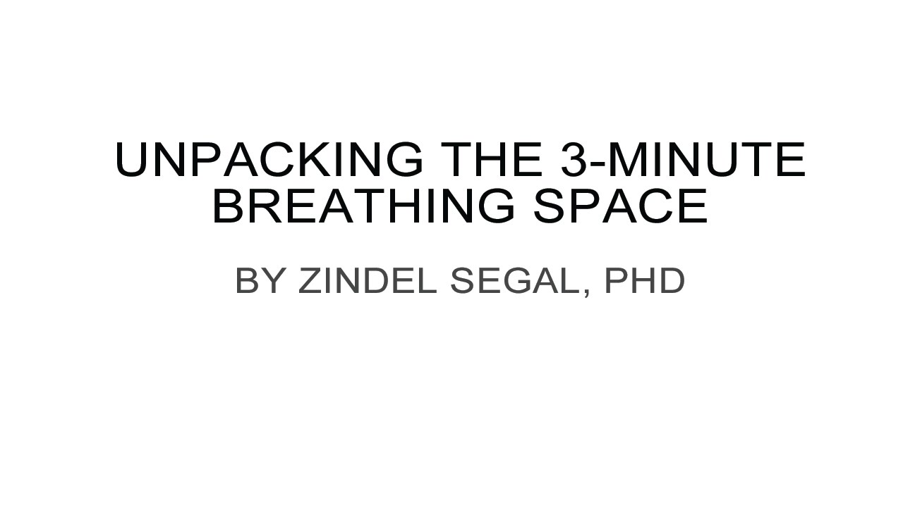 three minute breathing space instructions