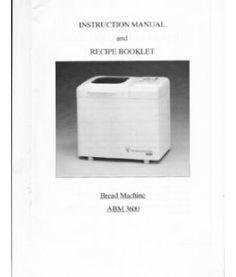 welbilt bread machine abm6000 instructions